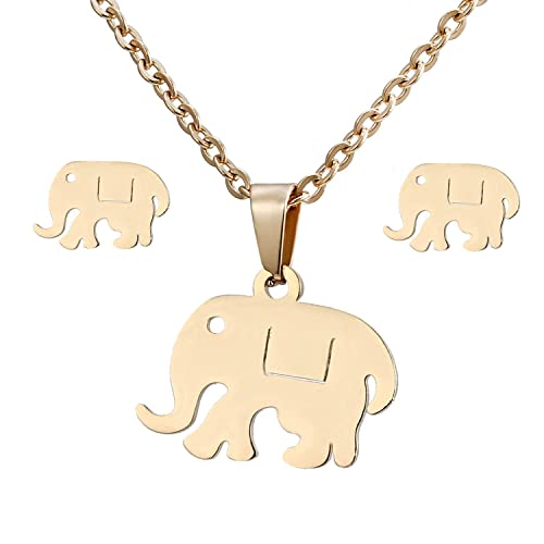 cff032a62c5ee Amazon.com: AILUOR Fashion Cute Elephant Earrings and Necklace ...