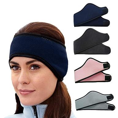 Ear warmers Earmuffs women Winter Adjustable Soft Warm Ear Muffs Cozy  Fluffy Knitted Plush Ears Windproof a2a0d3c1a6ef