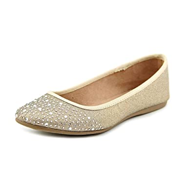 87fd1ec3bfb1e0 Style   Co Angelynn Women US 7 Gold Flats