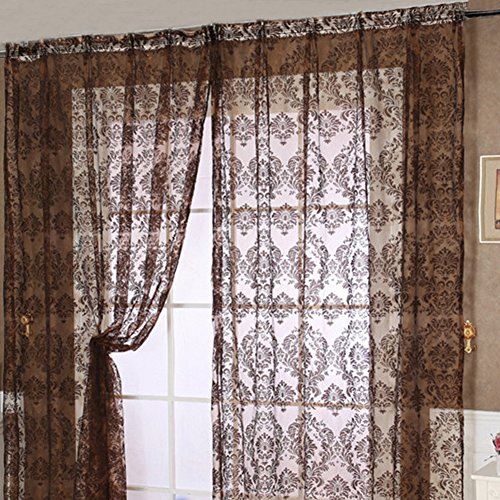 deconovo grommet top gradient moroccan print thermal insulated bedroom window blackout curtain. Black Bedroom Furniture Sets. Home Design Ideas