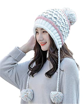 Stillshine Gorro de Invierno de Punto para Mujer 103ddb1601e
