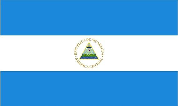 Gran Bandera de Nicaragua 150 x 90 cm Satén Durobol Flag: Amazon.es: Deportes y aire libre