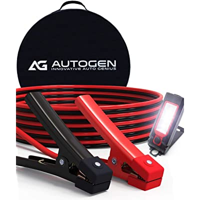 AUTOGEN Jumper Cables 1 Gauge 30 Ft 900A Heavy Duty Booster Cables with Professional Grade Clamps: Automotive