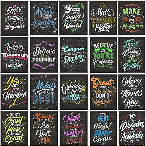 "AceConcepts 20 Laminated Motivational/Inspirational Posters, Classroom Wall Poster, Office & Home Decor - Great for Students and Teachers 13"" x 19"""