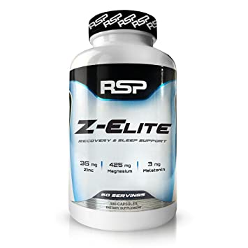 RSP Z-Elite - ZMA Muscle Recovery and Natural Sleep Aid, Zinc Magnesium  Supplement with Melatonin