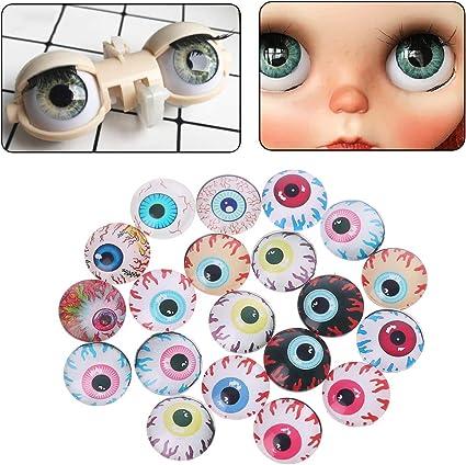 20Pcs Glass Doll Eye Making DIY Crafts For Toy Dinosaur Animal Eyes AccessoriesU