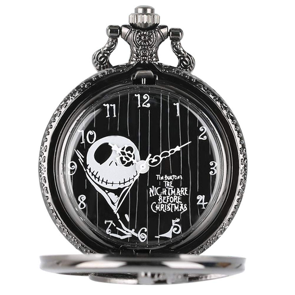 Amazon.com: Vintage Black Nightmare Before Christmas Quartz Pocket ...