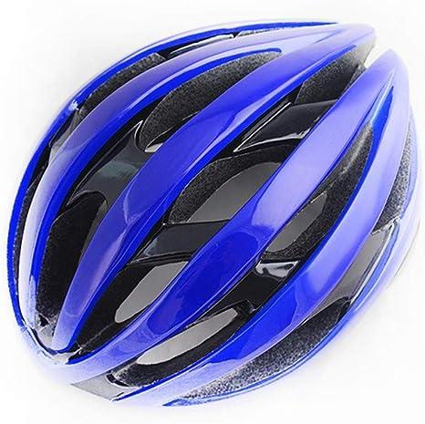 Casco,Bicicleta con luz integrada de Seguridad Casco Moldeado ...