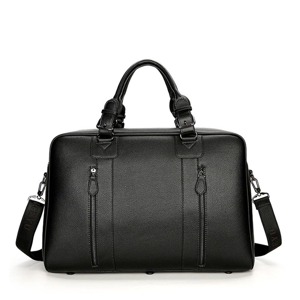 GLJJQMY メンズ大容量ハンドバッグビジネス旅行バッグブリーフケース短距離旅行バッグメンズバッグ、48 x 20 x 33cm トラベルバッグ (色 : 黒)  黒 B07MMMF61B