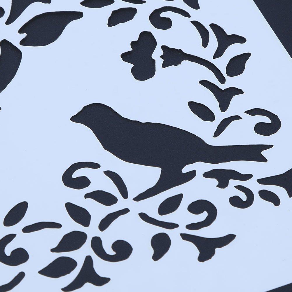 Amazingdeal365 Pintar la Plantilla, DIY Pintura de Scrapbooking Regla de la Plantilla del Libro de Recuerdos Emplate, Dibujo Portable del Graffiti (03): ...