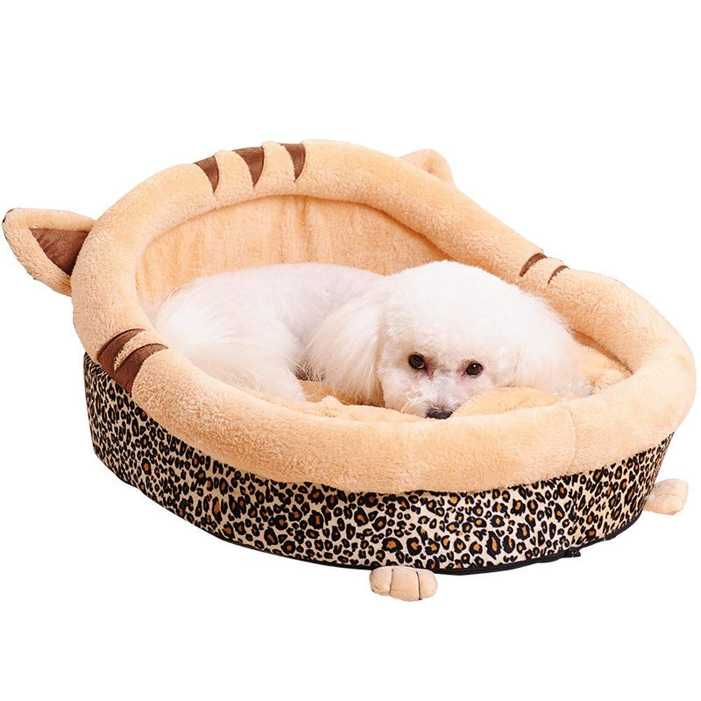 L-505031cm pet bed Kennel Fall and Winter Full Washable Dog Bed Pet Nest Small and Medium Dog Pet Supplies, Brown (Size   L-50  50  31cm)