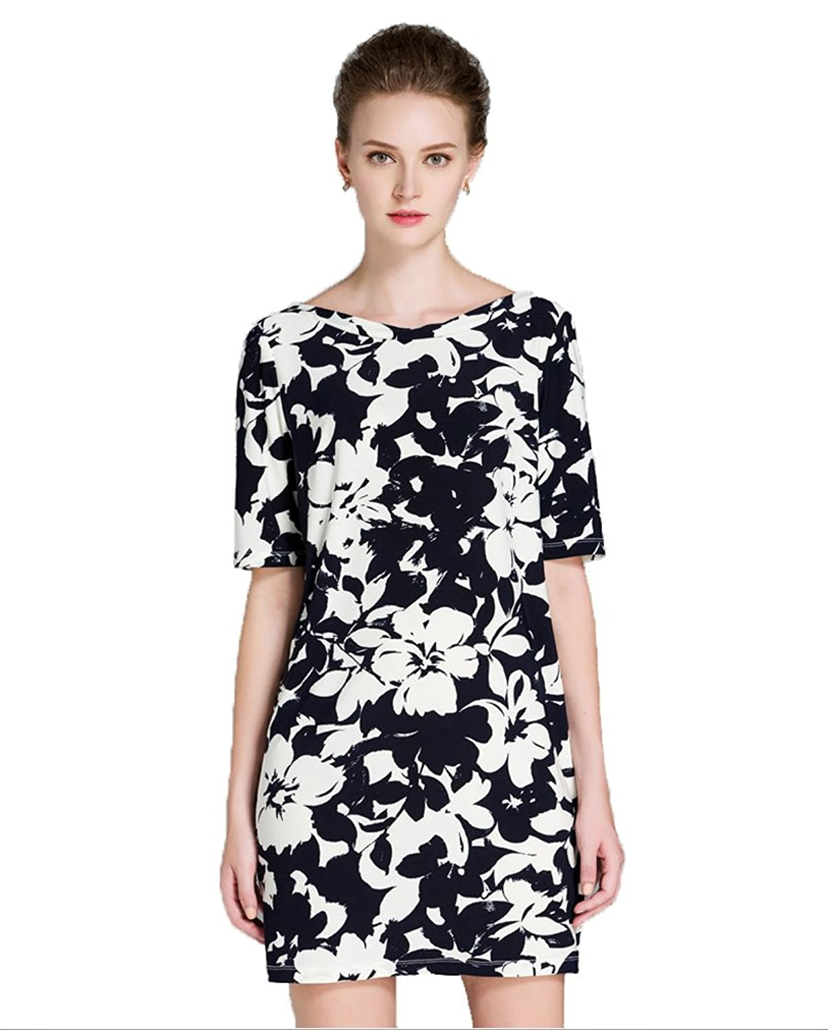 Sarah Dean Woman's Half Sleeve Knitted Printed Dress