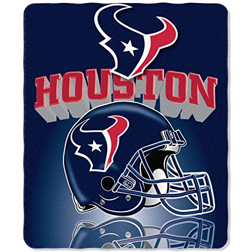 The Northwest Company NFL Houston Texans Gridiron Fleece Throw, 50-inches x 60-inches ()
