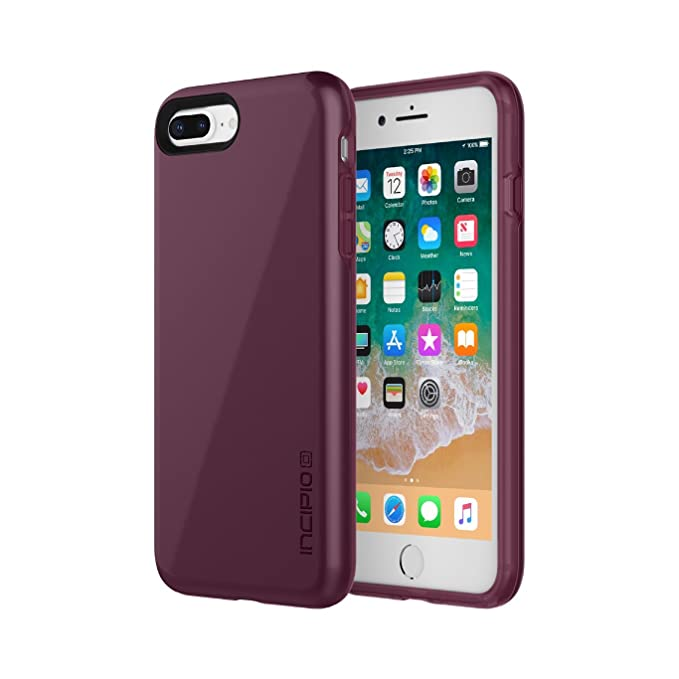 best service d6cf9 ad356 Incipio Haven LUX iPhone 8 Plus & iPhone 7 Plus Case with Padded Interior  and IML Finish for iPhone 8 Plus & iPhone 7 Plus - Merlot