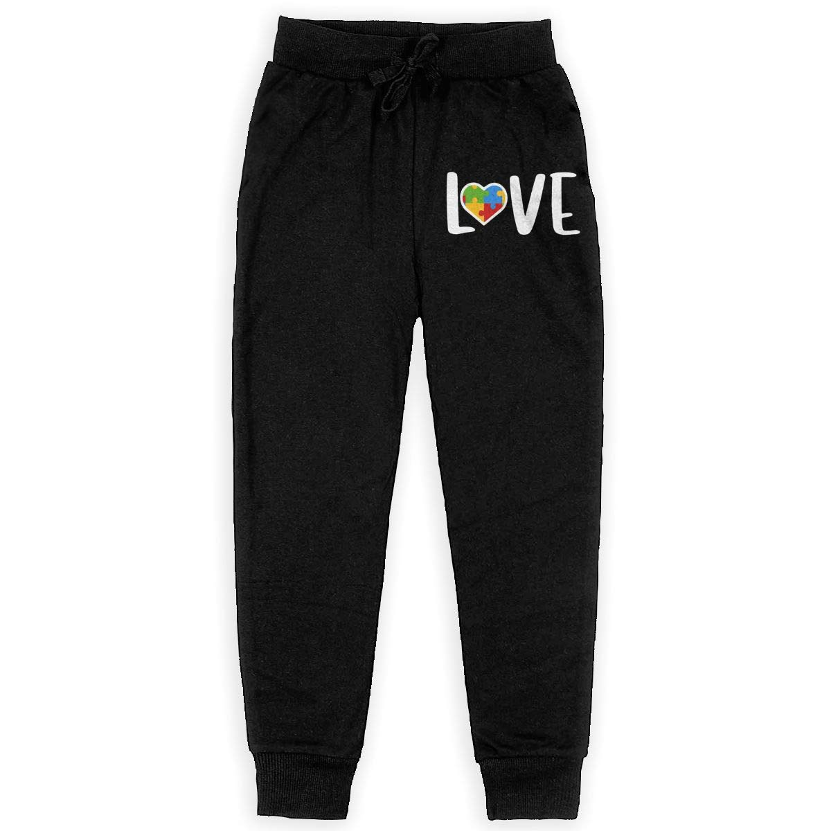 Youth Trousers Boy for Teenager Boys Autism Awareness Love Soft//Cozy Sweatpants