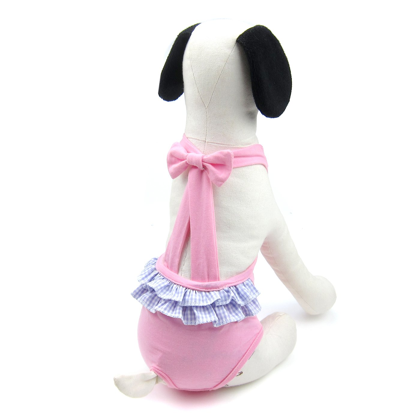 Alfie Pet by Petoga Couture - Alvina Diaper Dog Sanitary Pantie with Suspender for Girl Dogs - Color: Pink, Size: Medium
