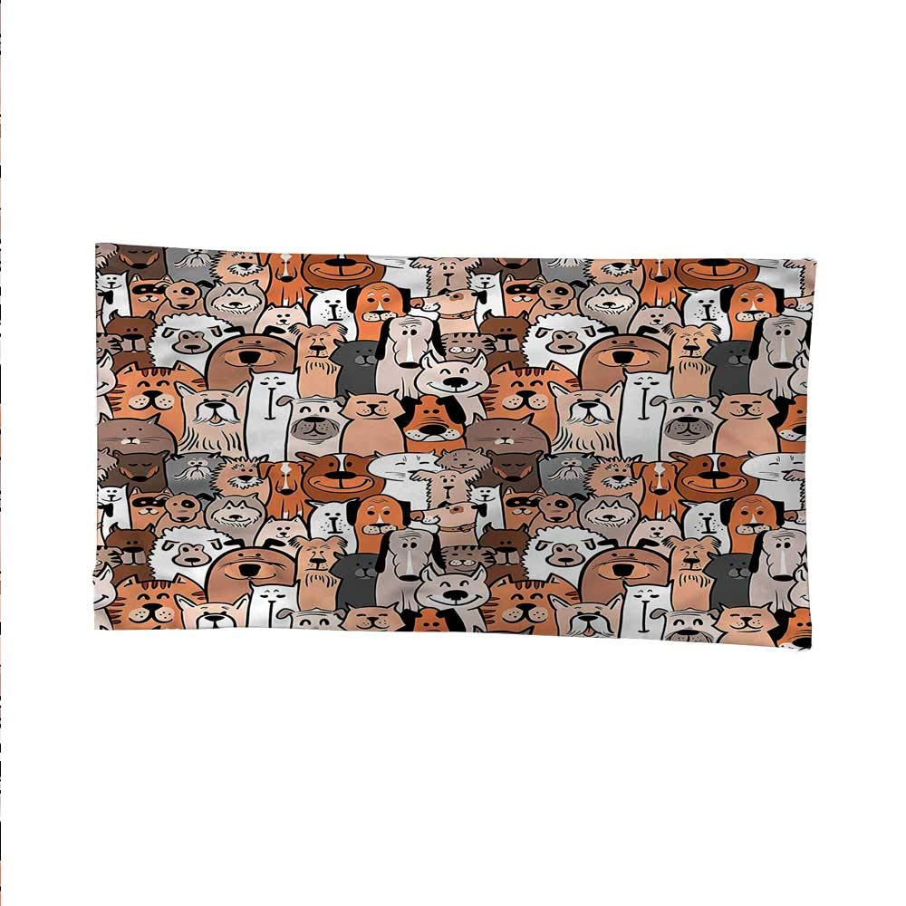Animalscool tapestrytapestry for wallDomestic Cat Dog Pattern 80W x 60L Inch