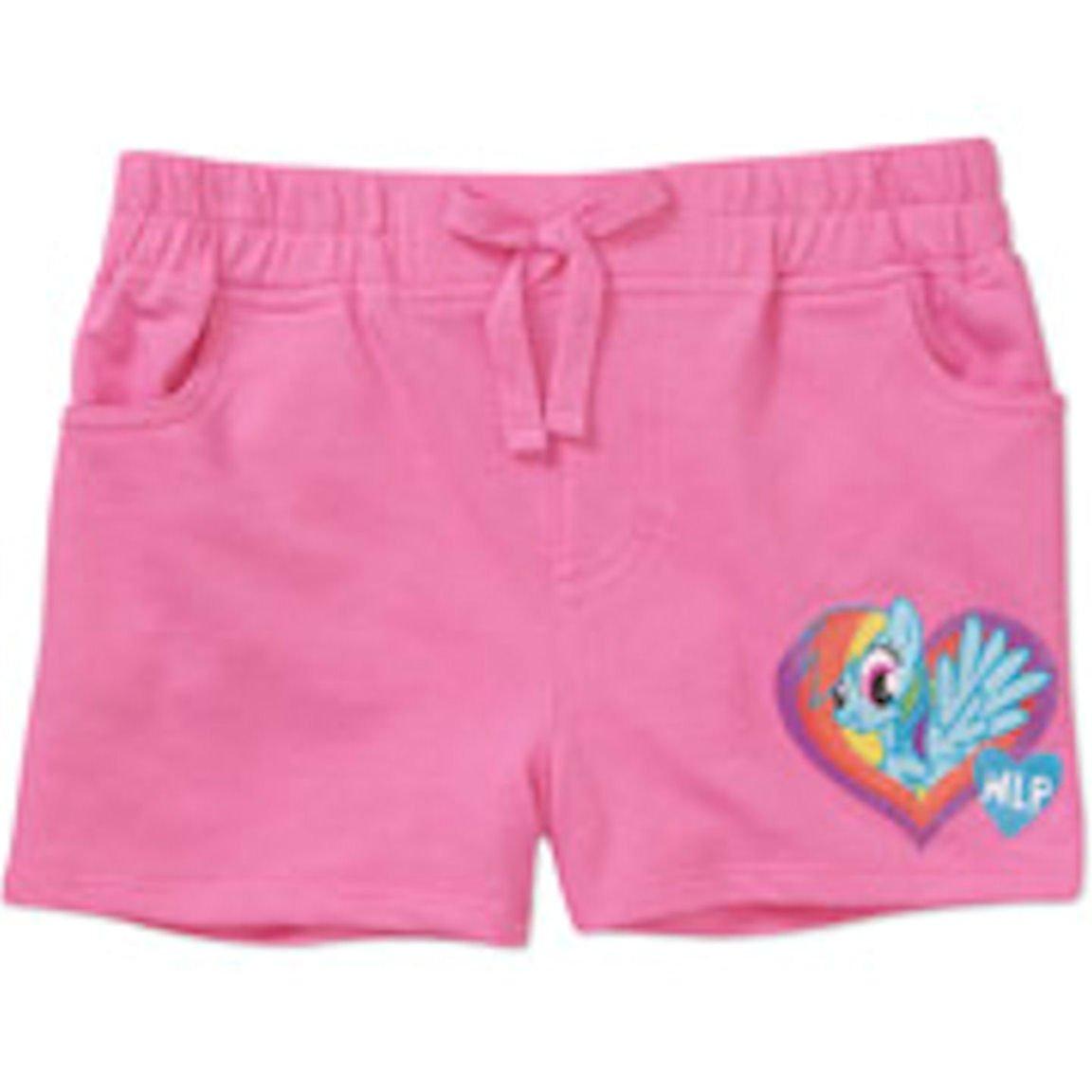 My Little Pony Girls Xs-xl Girls Pink Pony Shorts (Medium)