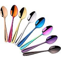Do Buy 8 Pieces 18/10 Dessert Spoons Teaspoons Small Coffee Spoons Espresso Spoons, 5.5 Inch