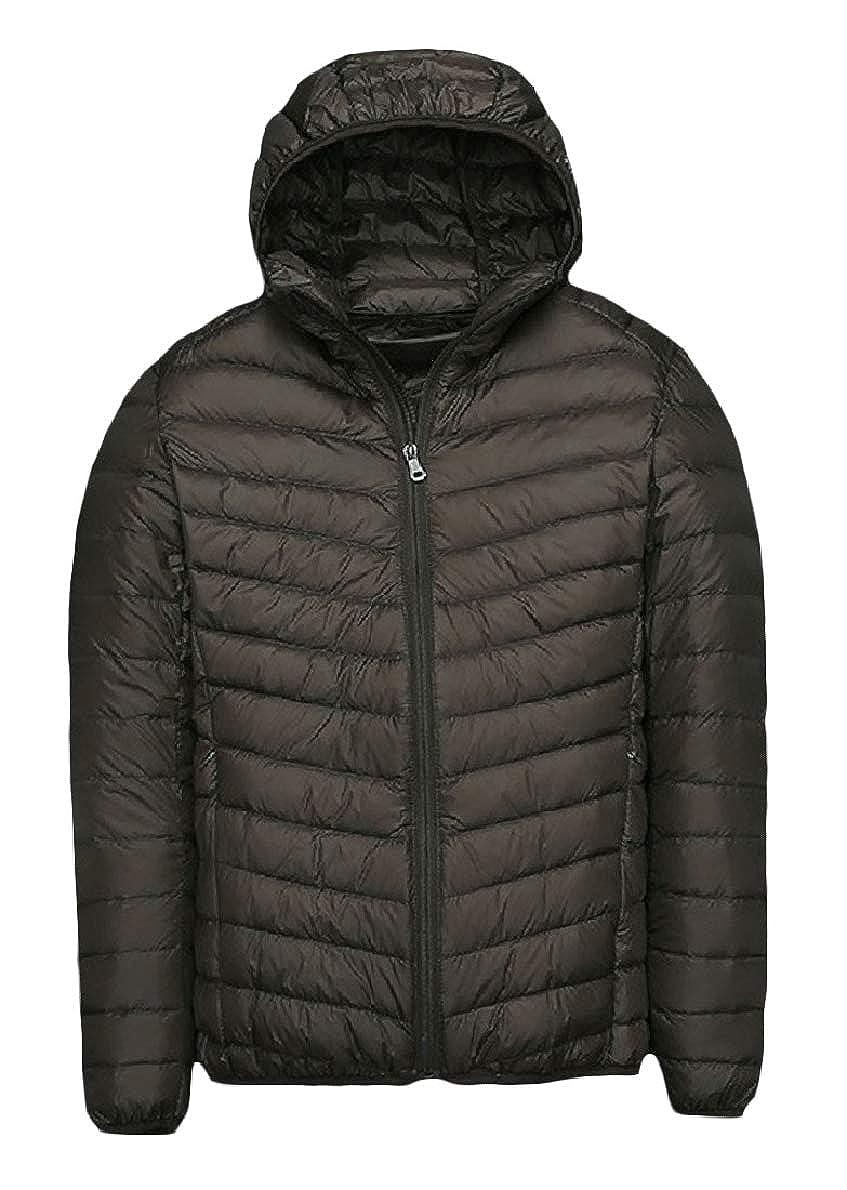 Winwinus Mens Ultra Light Weight Zipper Plus Size Duck Standard-fit Down Coat