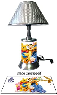 JS Disney Winnie The Pooh Lamp With Chrome Shade