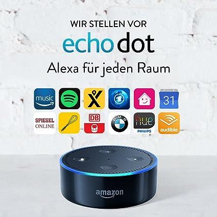 Amazon Echo Dot (2. Generation), Zertifiziert und generalüberholt, Schwarz