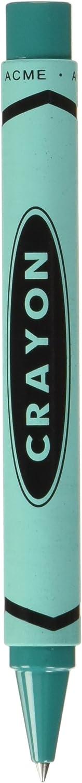 ACME Studios Crayon - Teal Retractable Roller Ball Pen by Adrian Olabuenaga (PACME3TLRR)