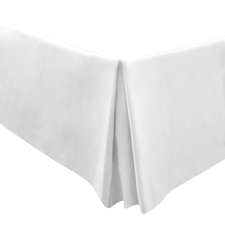 Utopia Bedding Premium 100% Cotton Bed-Skirt Dust Ruffle (Full, White) - Durable, Comfortable, Abrasion Resistant, Quadruple Pleated – Machine Washable