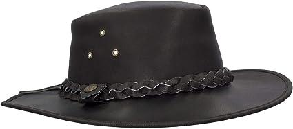 Sombrero de Vaquero con Adorno Trenzado Cuero de Vacuno Walker and Hawkes Traveller