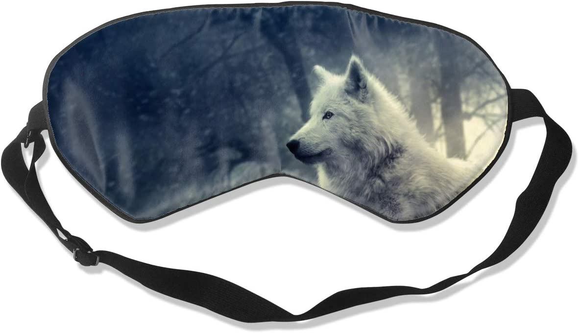 Amazon Com Grfer White Wolf Painting Wallpaper Best Sleep Mask