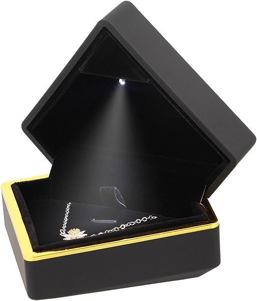 Mia - Caja de Collar con Forma de Diamante con luz LED para Joyas ...