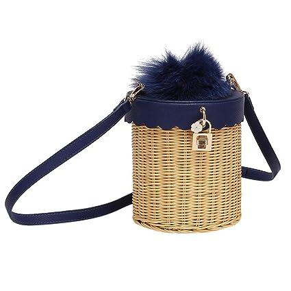 ae2a90fc275c Amazon.com  fancystar Women Hand-woven Rattan Bag
