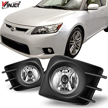 For 2011-2013 Scion TC  Clear Lens Chrome Housing Replacement Fog Lights Lamps