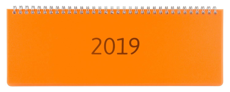 Idena 11303–Calendario da tavolo 2019, FSC Mix, Trasparenza, Arancione