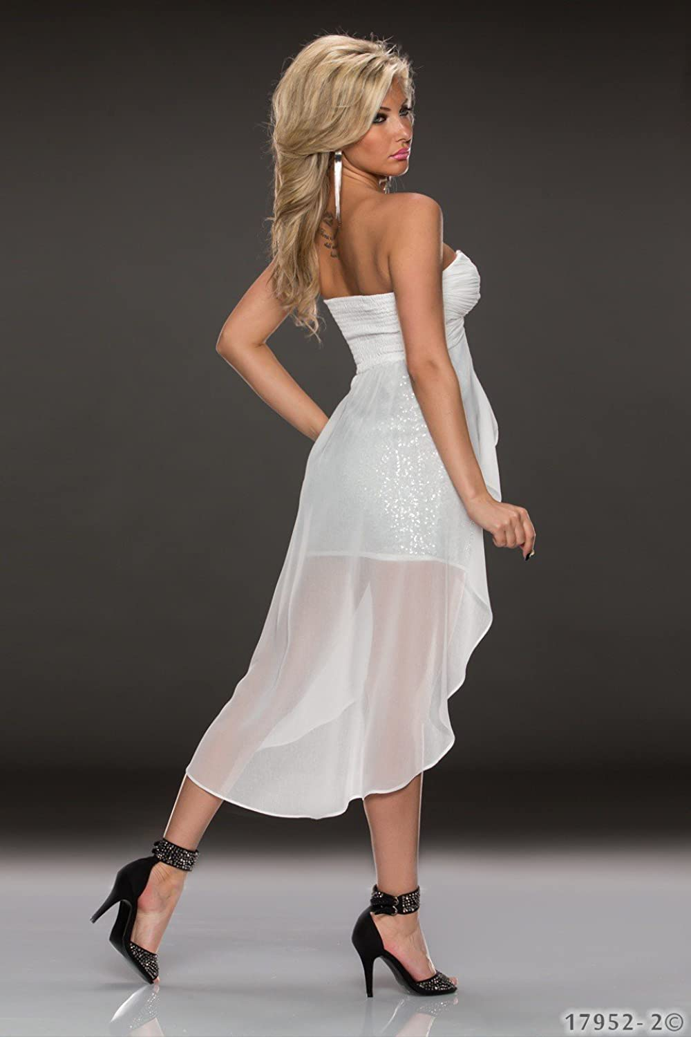 5979 FASHION4Young Vokuhila-Dress Ladies Evening Party dress Available in 3 Different Sizes / 5 Colours