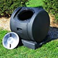 Good Ideas Enviro 49 Gallon Resin Compost Tumbler EZC02JR-Black