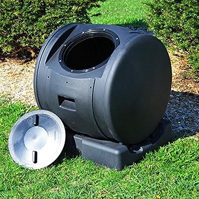 Good Ideas Enviro 49 Gallon Resin Compost Tumbler EZC02JR-Black