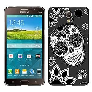 Design for Girls Plastic Cover Case FOR Samsung Galaxy Mega 2 Skull Flowers Wallpaper Floral Smile OBBA