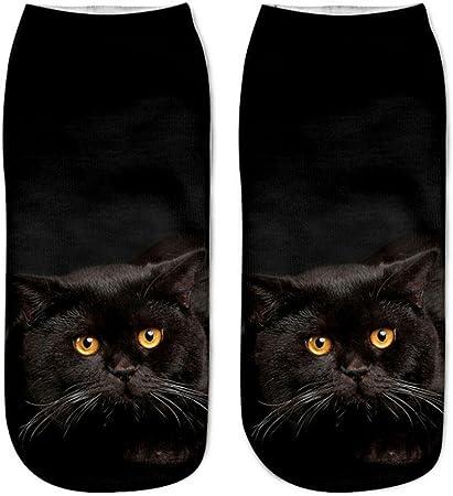 Popular Funny Unisex Short Socks 3D Cat Printed Anklet Socks Casual Socks