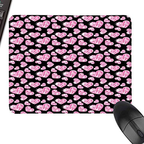 (Wrist Comfort Mouse Pad,Diamonds,Natural Rubber Gaming Mouse Mat,35.4