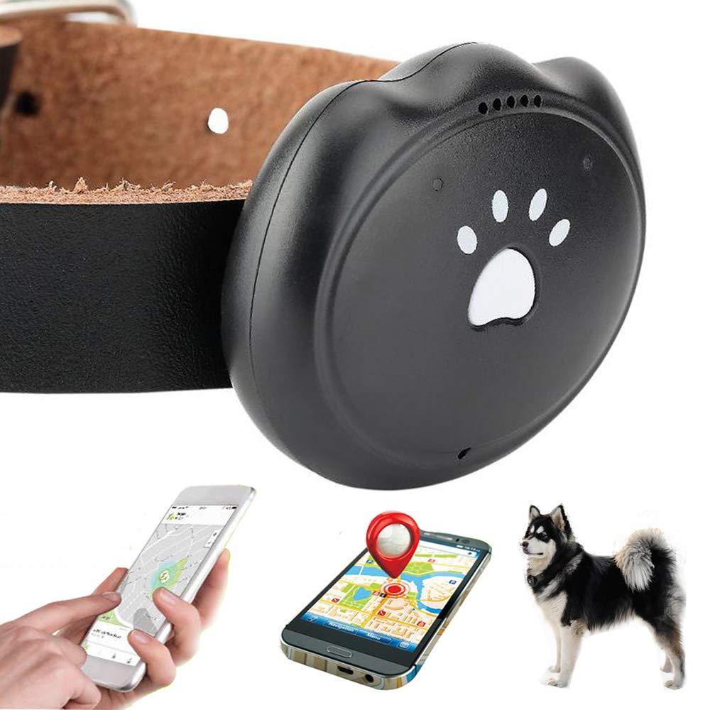 Jason Zeng Pet GPS Satellite Tracker & Activity Monitor Intelligent 5-Level Positioning System, No Subscription Fee IP67 Depth Waterproof Dog & Rare Animal Searcher Locator Trajectory Tracking Alarm by Jason Zeng