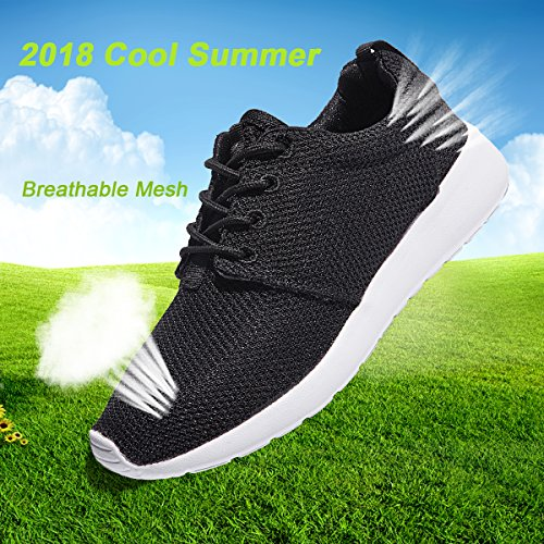 Mesh Athletic Mens Lightweight Women's Sneakers Shoes 2 Walking Running Breathable Black Unisex Fashion ZGR Casual RHtzw