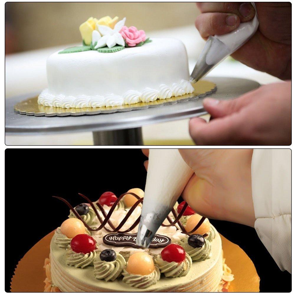 glassa reale fai da te e professionale baker S Lover White-15 Inch grande sacca da pasticcere usa e getta per decorazioni torte Gaocheng 100 sacchetti di pasticceria cupcake #1