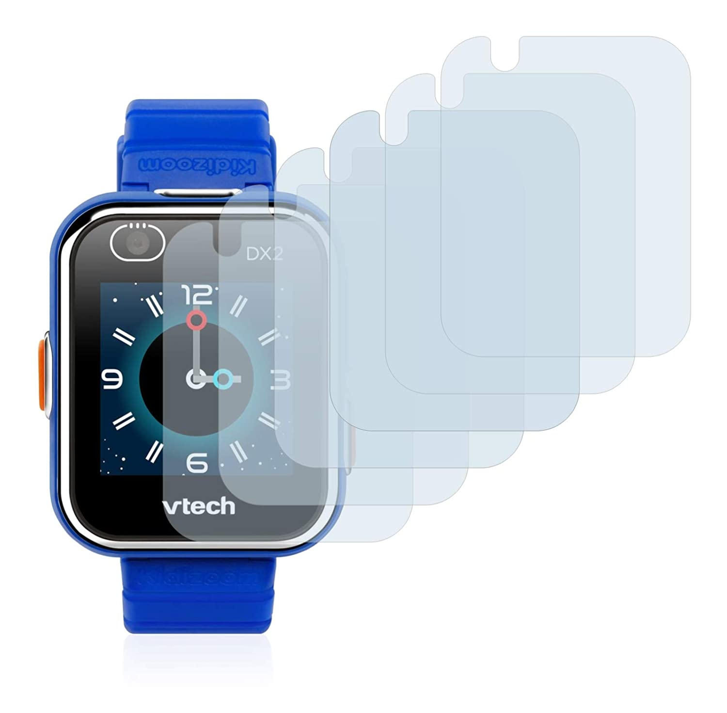 savvies Protector Pantalla Compatible con Vtech Kidizoom Smart Watch DX2 (6 Unidades) Pelicula Ultra Transparente