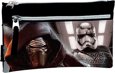 Star Wars- Estuche portatodo Doble con 2 Cremalleras, Multicolor, 22 cm (Montichelvo 53200): Amazon.es: Juguetes y juegos