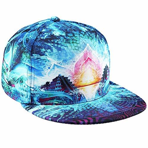 - moonsix Unisex Snapback Hats,Adjustable Flat Bill Baseball Caps Dancing Hip Hop Cap,Style A
