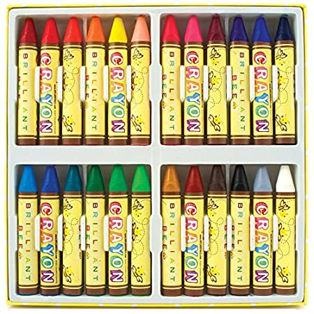 Set of 24 Accessory Ooly 133-50 Brilliant Bee Crayons