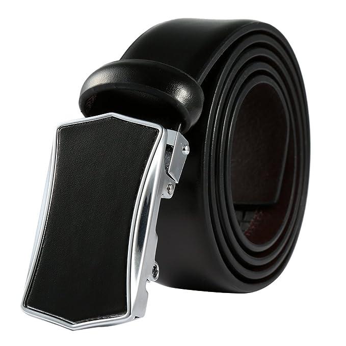 Vbiger Clásico Cinturón Hombre de PU Hebilla Automática E8dbb0t