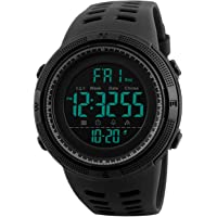 Reloj Digital para Hombre - Relojes Deportivo a Prueba de Agua para Hombre 50M, Reloj Militar Negro de Gran Cara LED con…