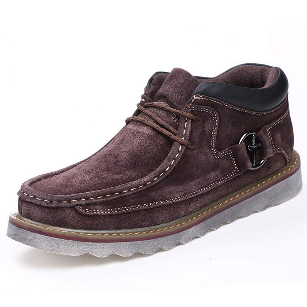 Zxcer Winter Herrenschuhe Werkzeug Schuhe Kurze Stiefel Baumwolle hoch Stiefel hoch Baumwolle zu helfen Wildleder Plus samt Dicke warme beiläufige Baumwolle Schuhe ad9f1f